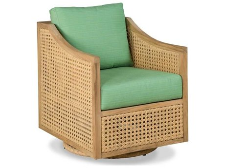 Woodbridge Furniture Outdoor Jupiter Natural Teak Cushion Lounge Chair PatioLiving