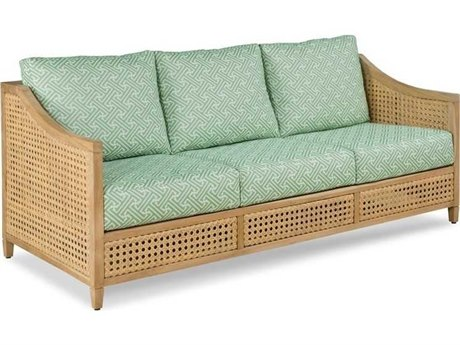 Woodbridge Furniture Outdoor Jupiter Natural Teak Cushion Sofa PatioLiving
