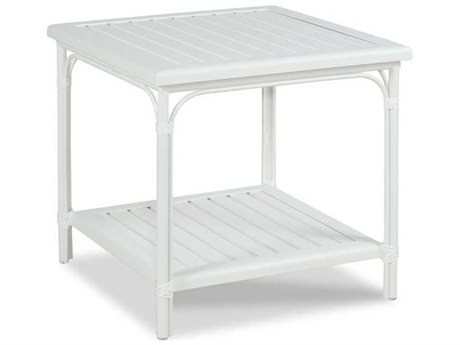Woodbridge Furniture Outdoor Carlyle Cloud White 24'' Wide Aluminum Square End Table