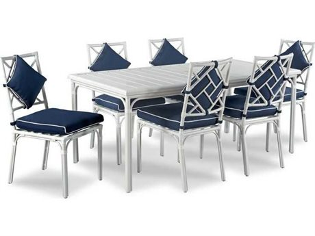 Woodbridge Furniture Outdoor Carlyle Aluminum Dining Set PatioLiving