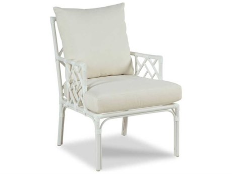 Woodbridge Furniture Outdoor Carlyle Cloud White Aluminum Cushion Lounge Chair PatioLiving
