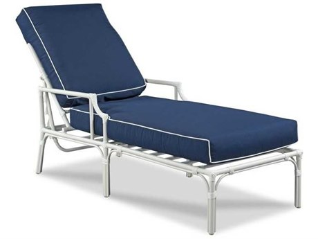 Woodbridge Furniture Outdoor Carlyle Cloud White Aluminum Cushion Chaise Lounge PatioLiving