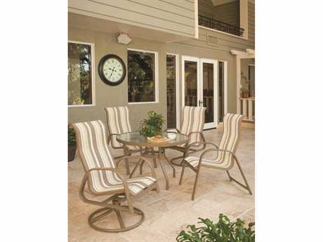 Windward Design Group Anna Maria Sling Aluminum Dining Set