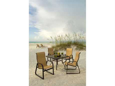 Windward Design Group Cabo Sling Aluminum Dining Set
