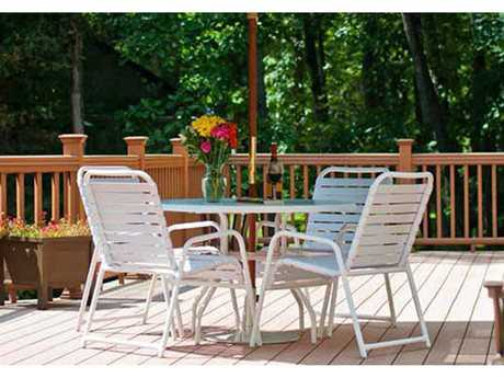 Windward Design Group Country Club Strap Aluminum Dining Set