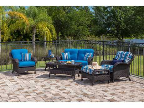 Windward Design Group Carolina Wicker Deep Seating Lounge Set