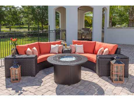 Windward Design Group Dakota Sectional Wicker Lounge Set