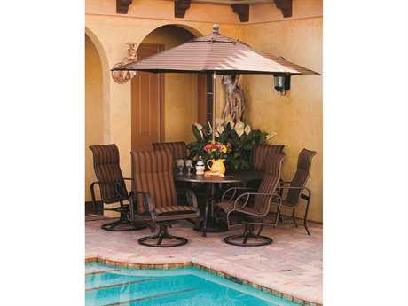 Windward Design Group Eclipse Sling Cast Aluminum Dining Set