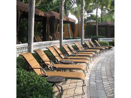 Windward Design Group Eclipse Sling Cast Aluminum Lounge Set