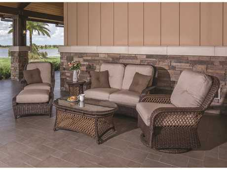 Windward Design Group Hannah Deep Seating Wicker Lounge Set