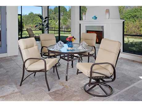 Windward Design Group Island Bay Cushion Aluminum Dining Set