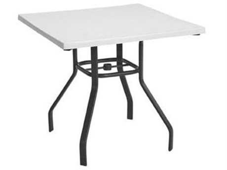 Windward Design Group Fiberglass Top Aluminum 32 Square Dining Table