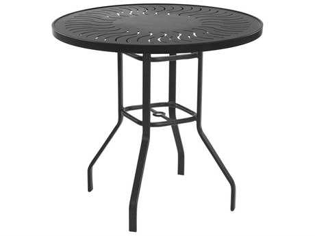Windward Design Group Sunburst Punched Aluminum 36 Round Bar Table