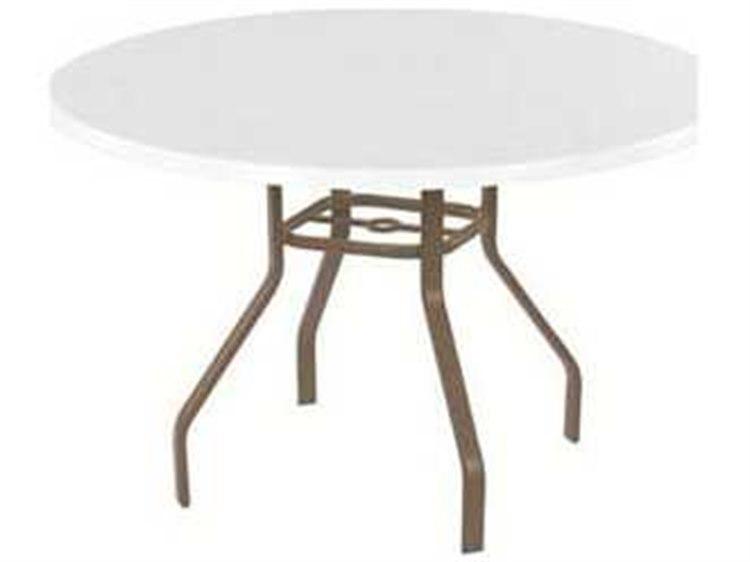 Charmant Windward Design Group Fiberglass Top Aluminum 36 Round Dining Table