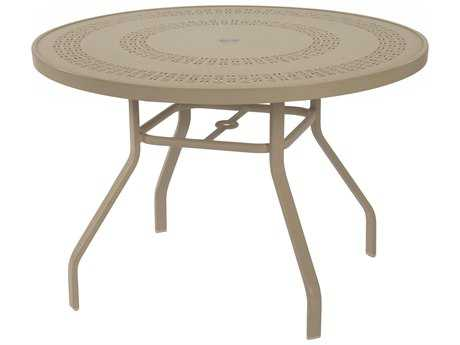 Windward Design Group Mayan Punched Aluminum 36 Round Dining Table