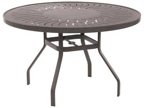 Windward Design Group Sunburst Punched Aluminum 36 Round Dining Table