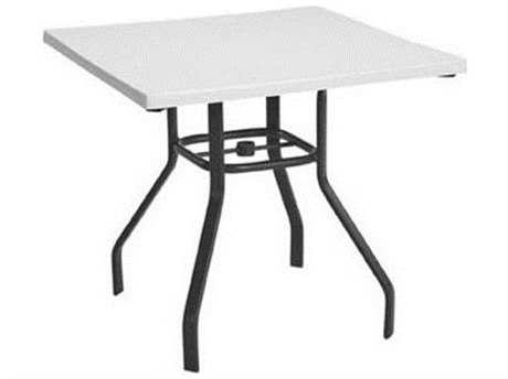 Windward Design Group Fiberglass Top Aluminum 36 Square Dining Table