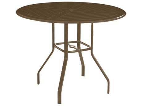 Windward Design Group Hartford Mgp Aluminum 36 Round Balcony Table with Umbrella Hole