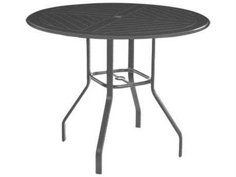 Windward Design Group Hartford Mgp Aluminum 54 x 36 Oval Balcony Table with Umbrella Hole