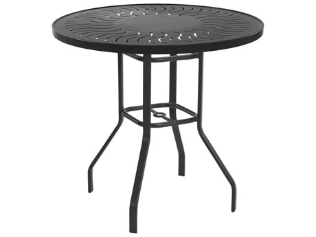 Windward Design Group Sunburst Punched Aluminum 42 Round Balcony Table