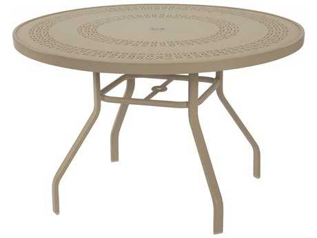 Windward Design Group Mayan Punched Aluminum 42 Round Dining Table