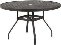 Napa Punched Aluminum 42 Round Dining Table with Umbrella Hole