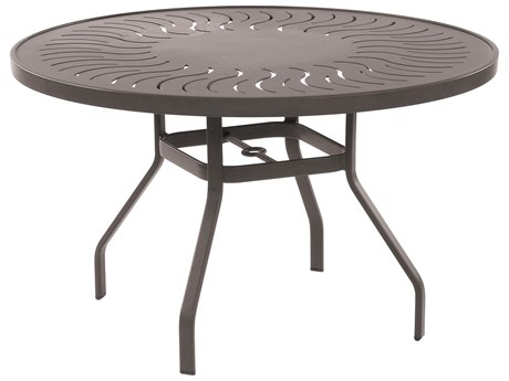 Windward Design Group Sunburst Punched Aluminum 42 Round Dining Table