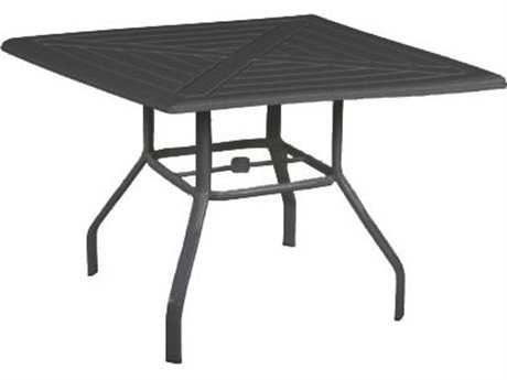 Windward Design Group Hartford Mgp Aluminum 42 Square Dining Table with Umbrella Hole