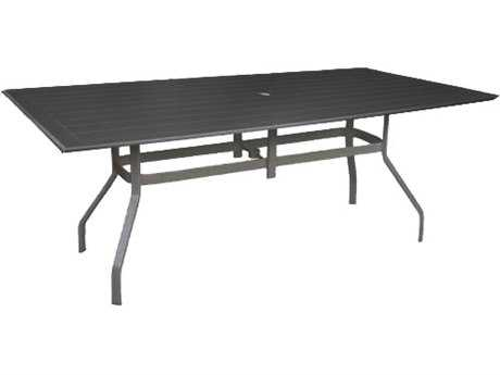 Windward Design Group Hartford Mgp Aluminum 76 x 42 Rectangular Bar Table with Umbrella Hole
