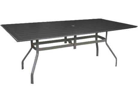 Windward Design Group Newport Mgp 76 x 42 Rectangular Dining Table with Umbrella Hole