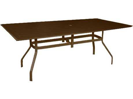 Windward Design Group Hartford Mgp Aluminum 76 x 42 Rectangular Balcony Table with Umbrella Hole