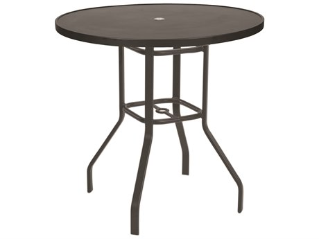 Windward Design Group Delray Smooth Aluminum 47''Wide Round Bar Table