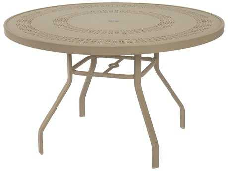 Windward Design Group Mayan Punched Aluminum 47 Round Dining Table