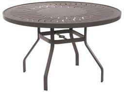 Sunburst Punched Aluminum Tables