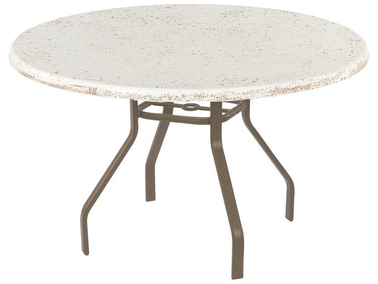 Windward Design Group Faux Stone Top Aluminum 48 Round