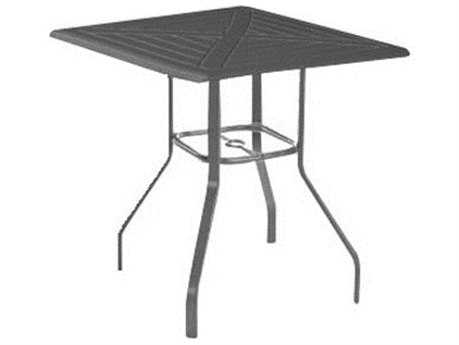 Windward Design Group Hartford Mgp Aluminum 48 Square Bar Table with Umbrella Hole