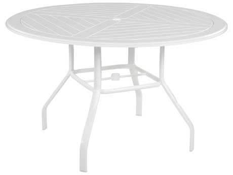Windward Design Group Hartford Mgp Aluminum 48 Round Dining Table with Umbrella Hole