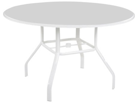 Windward Design Group Plain Mgp Aluminum 48''Wide Round Dining Table