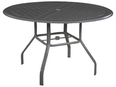 Windward Design Group Hartford Mgp Aluminum 54 Round Dining Table with Umbrella Hole