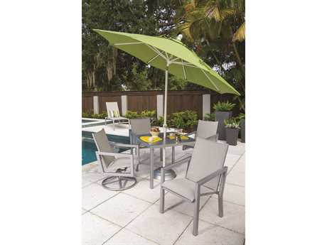 Windward Design Group Madrid Sling Aluminum Dining Set