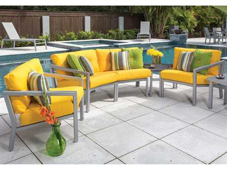 Windward Design Group Madrid Deep Seating Aluminum Lounge Set