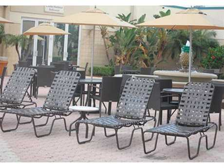 Windward Design Group Neptune Strap Aluminum Lounge Set
