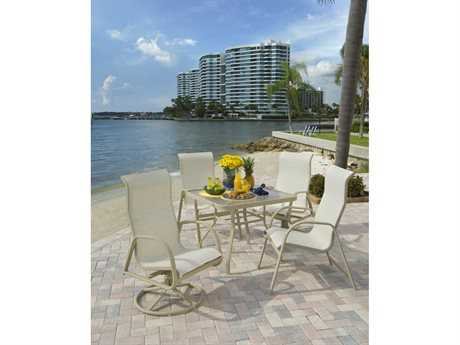 Windward Design Group Ocean Breeze Sling Aluminum Dining Set