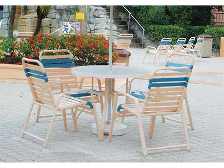 Windward Design Group Regatta Strap Aluminum Dining Set