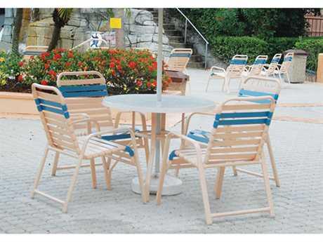 Windward Design Group Regatta Strap Aluminum Dining Set