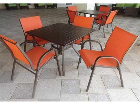 Windward Design Group Seabreeze Sling Aluminum Dining Set
