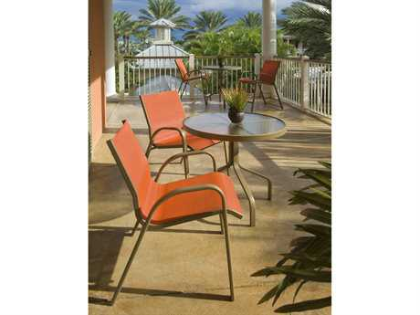 Windward Design Group Seabreeze Sling Aluminum Dining Set