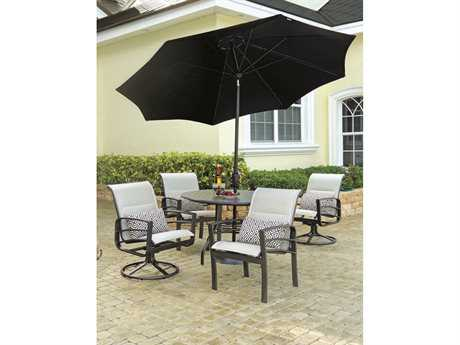 Windward Design Group Skyway Sling Aluminum Dining Set