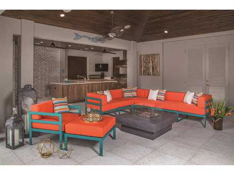 Windward Design Group South Beach Modular Aluminum Sectional Lounge Set