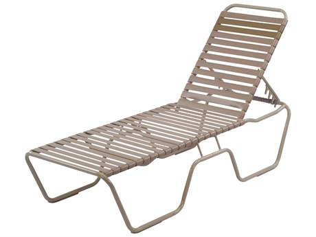 Windward Design Group Country Club Strap Aluminum Skids Chaise Lounge